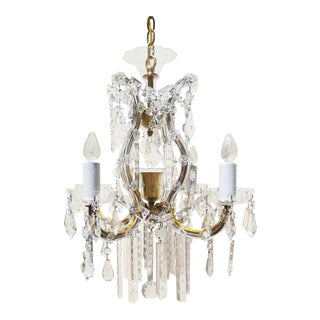 1940's Maria Theresa Crystal Chandelier