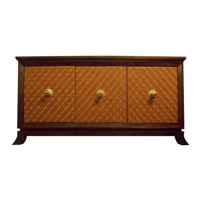 Mid-Century Styles Fabric Panel Buffet - Image 1 of 8