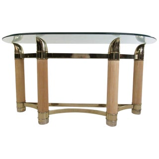 Mid-Century Modern Demilune Console Table