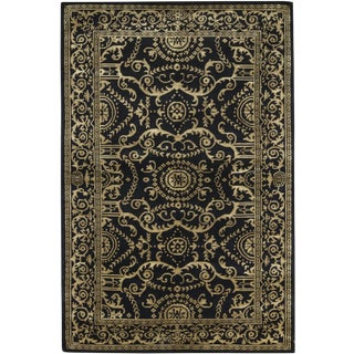 "Tibetan Contemporary Hand Woven Wool Rug - 5'11"" X 9'"