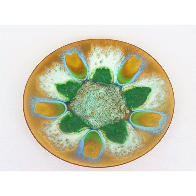 Edwards Star Enamel on Copper Dish - Image 2 of 5