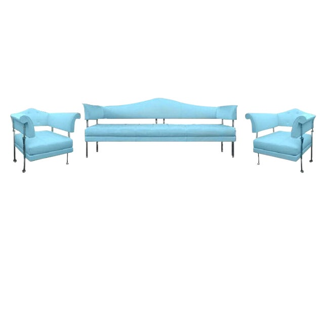Poltrona Frau Hydra Enif Sofa Set by Luca Scacchetti in Atollo Pelle Frau Leather - Set of 3 - Image 1 of 6