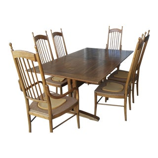 1971 Drexel Dining Table & Chairs - Set of 7