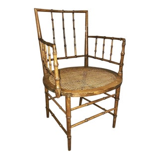 French Faux-Bamboo Armchair