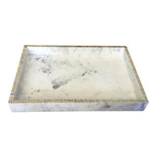 Gray & White Marble Tray