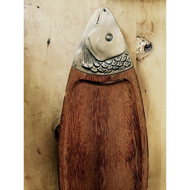 Vintage Wooden Fish Plate - Image 3 of 4