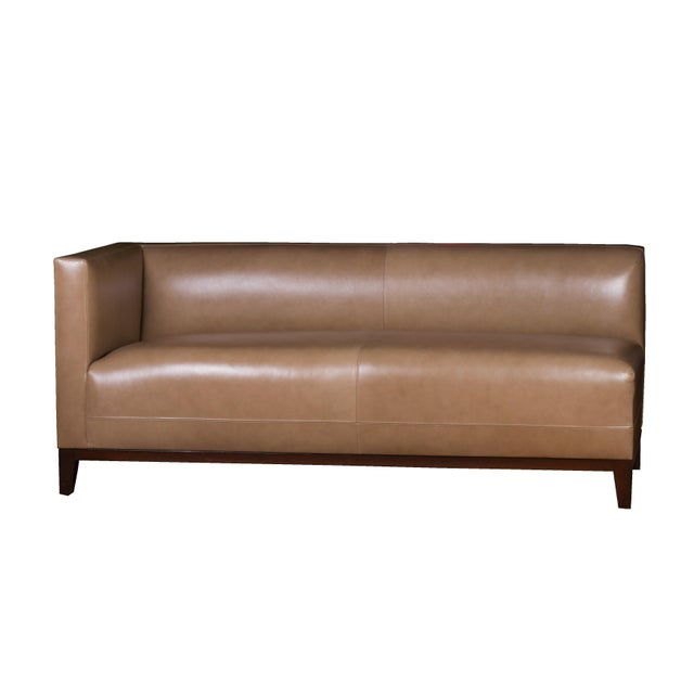 Custom Two-Piece Luxury Taupe Leather Sectional - Image 3 of 4
