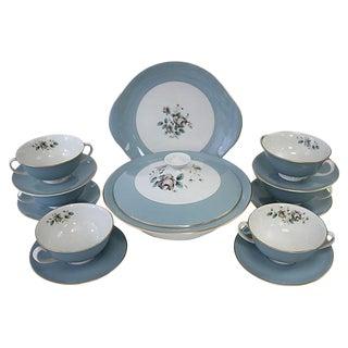 Royal Doulton Rose Soup Set - Set of 14