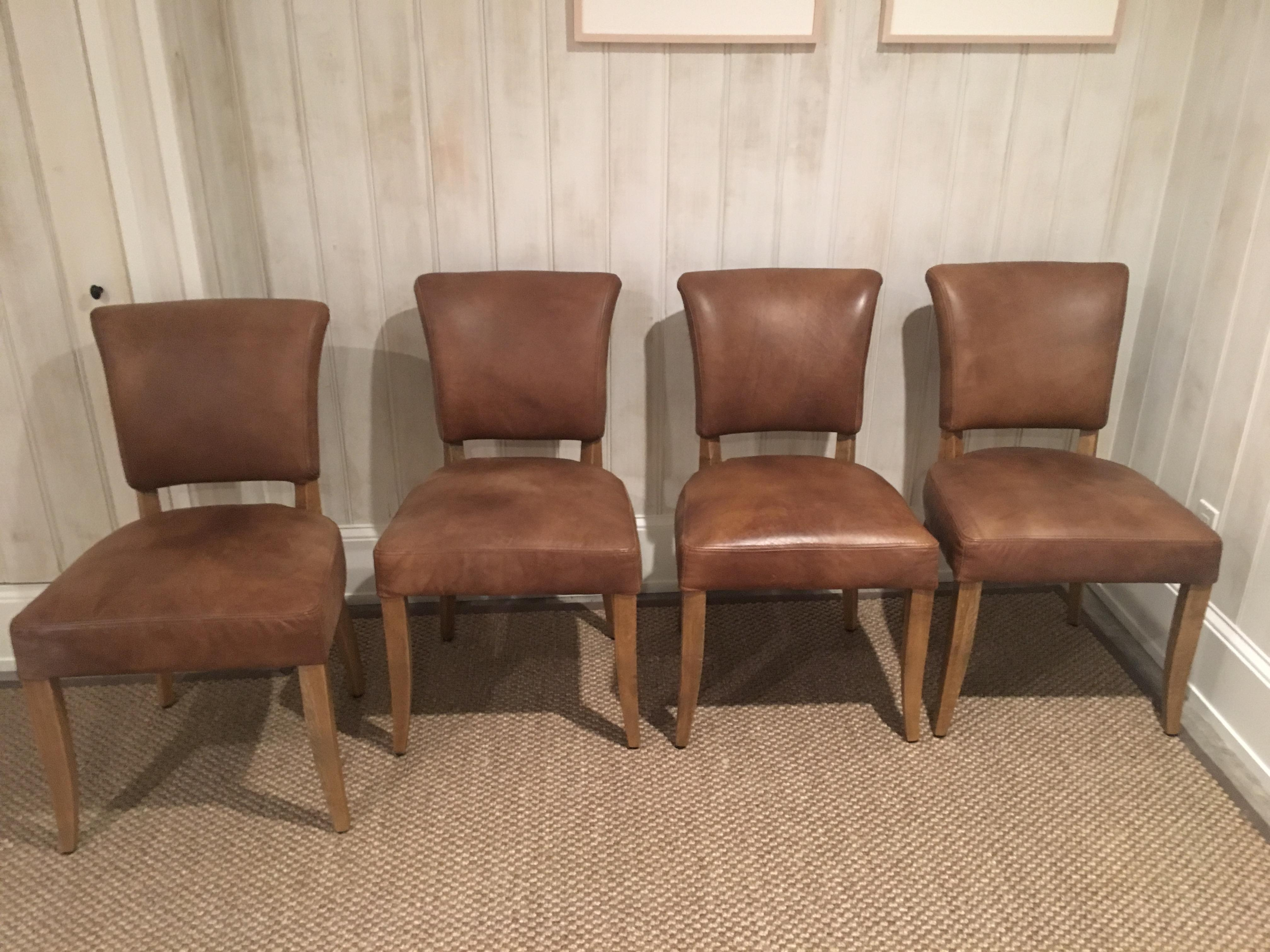 restoration hardware adele leather side chair image 5 of 5
