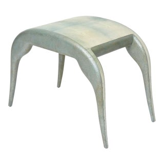 French Modern Shagreen Bench by R and Y Augousti