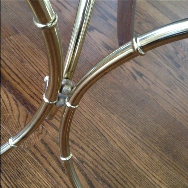 Vintage Faux Bamboo Accent Table - Image 8 of 11