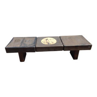 Outdoor Asian Motif Three Piece Coffee Table