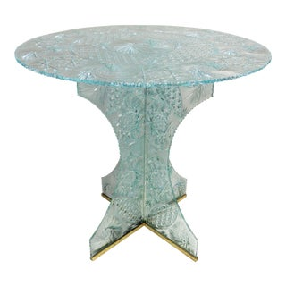 Modern Cut Crystal Round Table