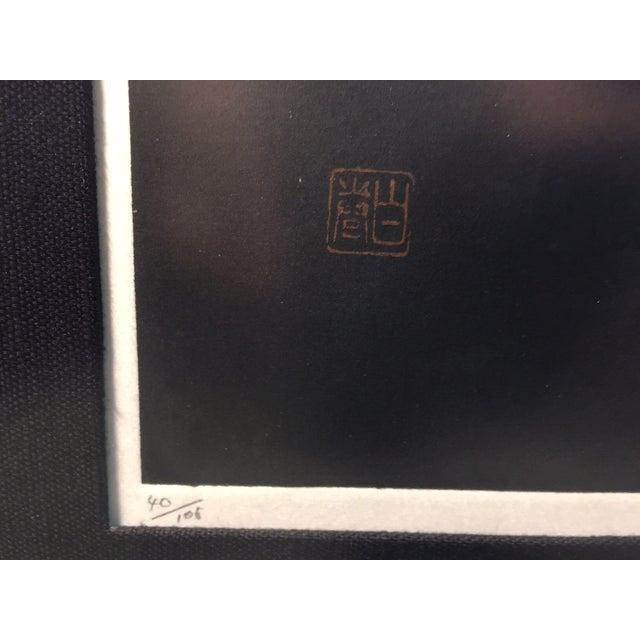 "Haku Maki's Embossed Woodblock Print ""Poem 70-72"" - Image 5 of 8"