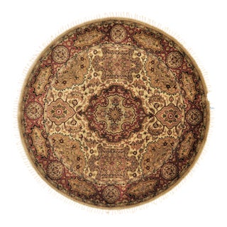 "Traditional Wool Round Rug - 4'10"" X 4'10"""
