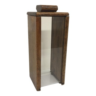Mid-Century Modern Wood & Lucite Display Case