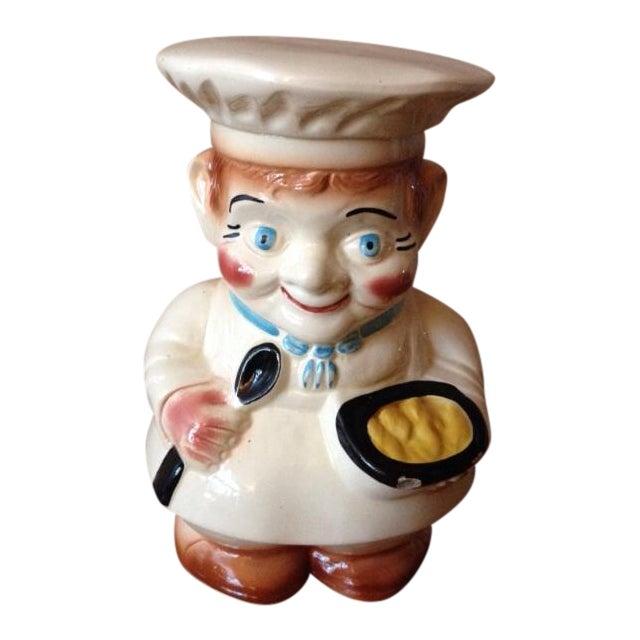 Vintage 1940s Roseville Pottery Chef Cookie Jar - Image 1 of 11