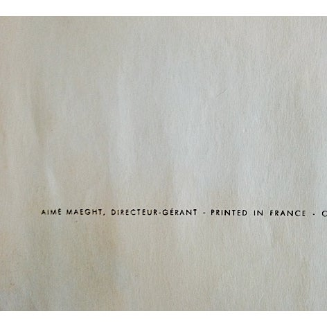Original 1961 Miro Poster Derriere Le Miroir - Image 4 of 6