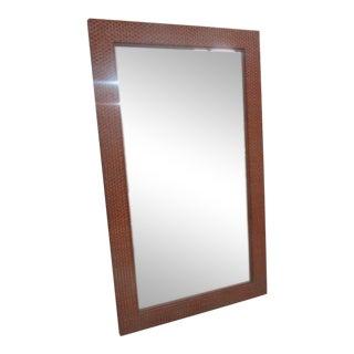 Tall Rattan Woven Mirror