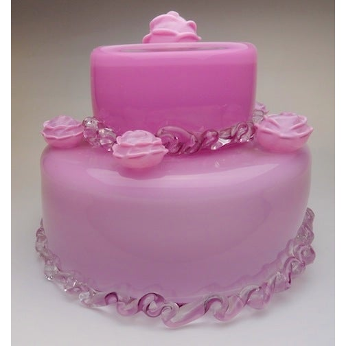 "Jason Minami's ""The Pink Cake"" Glass Statue - Image 2 of 3"