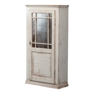 Sarreid Ltd Antiqued White Painted Wall Cabinet