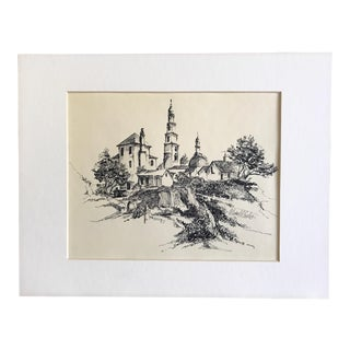 1974 Original Sketch, Signed & Matted