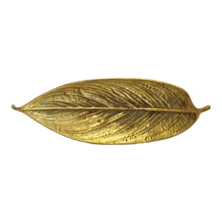 Vintage Virginia Metalcrafters Brass Leaf