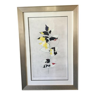 """Soicher Marin """"Vertical Leaves"""" Framed Print"""