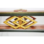 Image of Vintage Chinese Red & Gold Accented Mirror