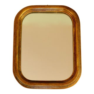 Hollywood Regency Gilt Louis Phillipe Style Small Mirror