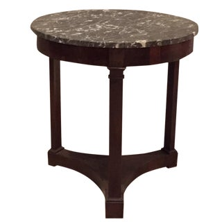 3-Leg Marble Top Empire Side Table