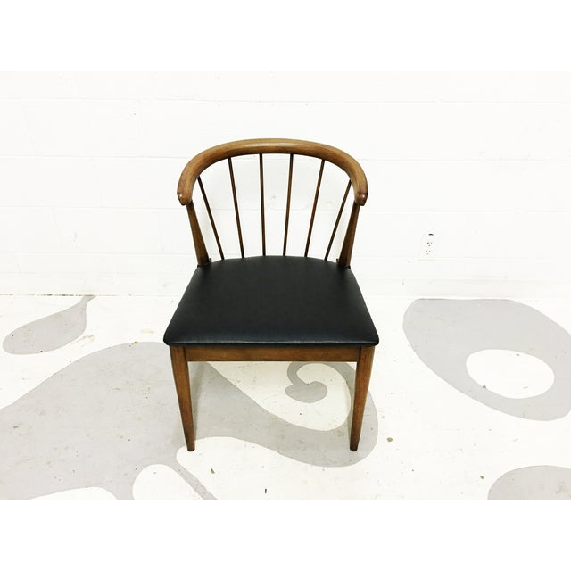 Mid Century Modern Chair Spindle Back Walnut Chair - Image 2 of 6