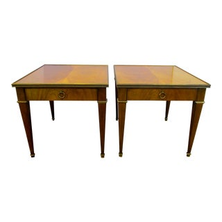Baker Mahogany End Tables - A Pair