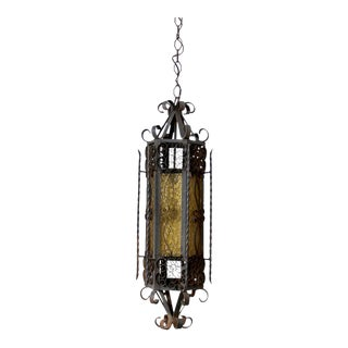 Mid-Century Wrought Iron Lantern