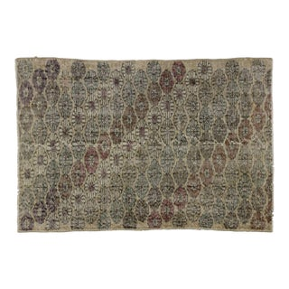Zeki Muren Distressed Vintage Turkish Sivas Rug - 3′9″ × 5′7″