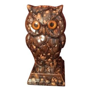 Mid-Century Owl Lamp
