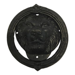 Cast Iron Lion Head Door Knocker