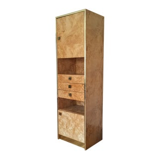 Founders Brass and Burl Storage Unit
