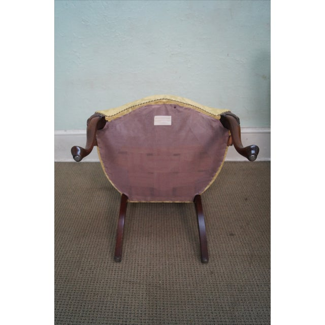 Image of Hickory Co. Mahogany Queen Anne Armchairs - Pair