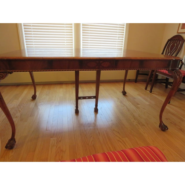 Antique Mahogany Clawfoot Dining Table - Image 4 of 6