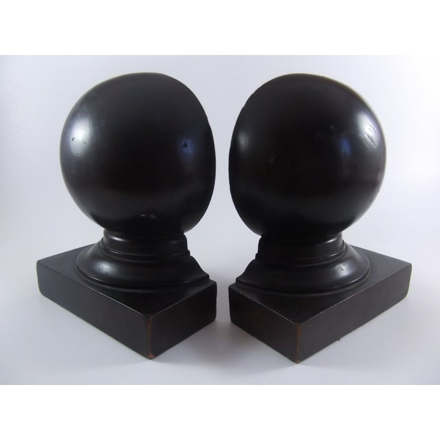 Architectural Mahogany Bookends - Image 2 of 4
