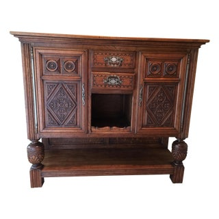 French Court Cupboard Oak