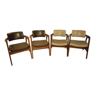Gunlocke Mid-Century Arm Chairs - Set of 4