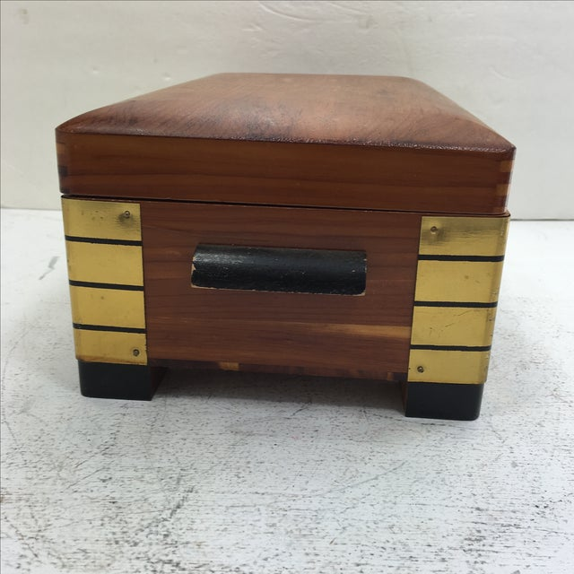 Deco-Style Cedar Keepsake Box - Image 6 of 11