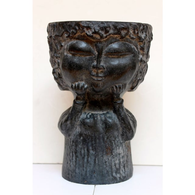 Image of Midcentury Ceramic Face Vase