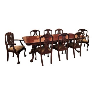 dining room table and chair sets. Mahogany Carved Table  Chairs Set Vintage Used Dining Chair Sets Chairish