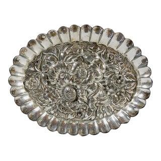 Small Ornate Silver Plate Dish
