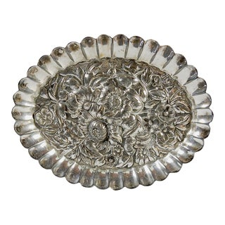 Small Ornate Silver Plate Dish