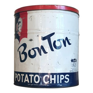 Vintage Bon Ton Potato Chips Can