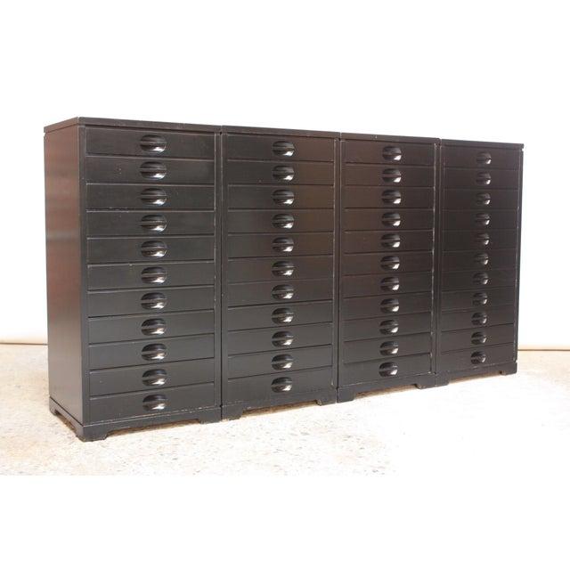 Set of Four Mid-Century American Modern Ebonized Specimen Cabinets - Image 2 of 10